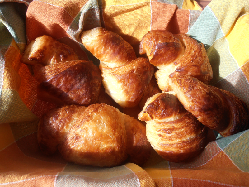 Home-baked croissants
